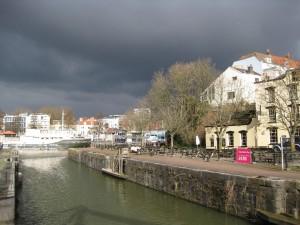 The Ostrich pub in Bristol harbourside